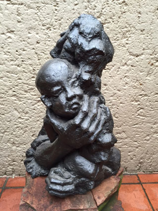"Ben Macala ""Mother and Child""  bronze 46x26x30 cm - not signed – Private Coll A.B."