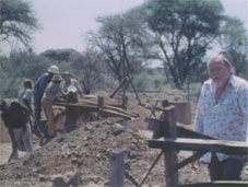 Gordon Vorster in 1979 at the diamond diggings