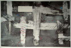 "Lucas SEAGE ""Abstract"", 1986 - m/media on paper - 68x98 cm - cat. 220 (UFH Collection)"