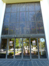 Stained glass windows by Frank Spears at the H.B. Thom Theatre, University of Stellenbosch